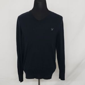 American Eagle Classic Fit L/S Navy Blue Sweater
